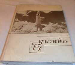 Vintage Very Old 1947 Lsu Tigers Y.a. Tittle Gumbo Yearbook Baton Rouge La.
