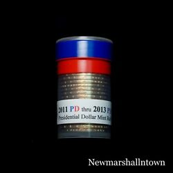 2011 2012 2013 P+d Presidential Dollar Mint Roll Set No Proof S