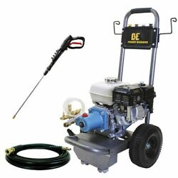 Be Semi-pro 3000 Psi Gas - Cold Water Pressure Washer W/ Cat Pump And Honda G...