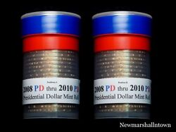 2008 2009 2011 P+d Position A+b Presidential Dollar Mint Roll Set No Proof S