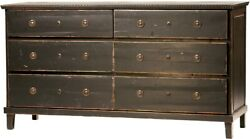 67 L Dresser Reclaimed Old Wood Brass Knobs Antique Finish Hand Distressed