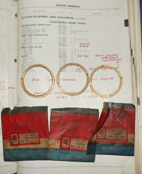 Nos Bmc Thrust Washers 22a546 22a547 And 22a549. Austin Mini Cooper 1275 And S --