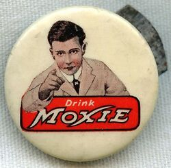 Wonderful Vintage 1900s Moxie Celluloid Clicker By Whitehead And Hoag