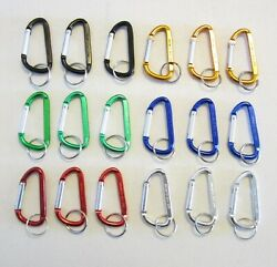 18 NEW METAL CARABINER SPRING CLIP KEYCHAINS BACKPACK BELT KEY CHAIN 3