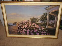 Sergio Roffo Original Oil Painting On Board 24x36 Framed Large Fantastic