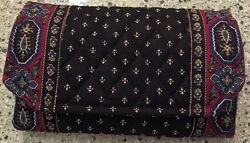 Vera Bradley Retired Rare Black Wallet With Strap Vintage No Signs Of Use