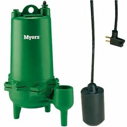 Myers Mwh50-21p - 1/2 Hp Cast Iron Sewage Pump 2 W/ Tether Float Switch 2...