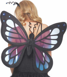 Morris Costumes Women's Butterfly Style Strap Wings Blue Purple One Size. UA2136