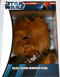 New Star Wars Deluxe Talking Character Plush Chewbacca Underground Toys Rare