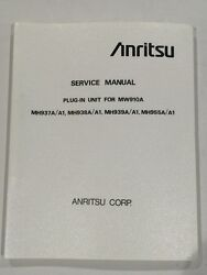 Anritsu Mw910a Service Manual For Plug-in Units Mh937a Mh938a Mh939a Mh955a