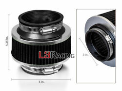 3 Inch 76mm Universal Bypass Valve Black Filter For Chrysler Cold Air Intake