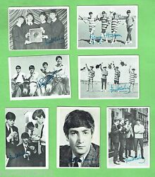 D47. 2. Lot Of Seven 1960s Beatles Trading Cards