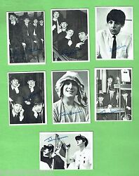 D47. 5. Lot Of Seven 1960s Beatles Trading Cards