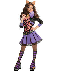 Morris Costumes Girls Monster High Clawdeen Wolf Duluxe Child Medium. RU884902MD