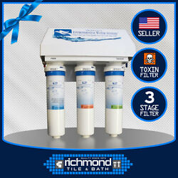 3-stage High Grade Carbon Under Counter Water Filter For Chloramine And Toxins