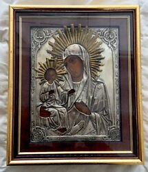 ANTIQUE RUSSIAN ORTHODOX ICON OF THE VIRGIN THEOTOKOS MARY WITH 3 HANDS
