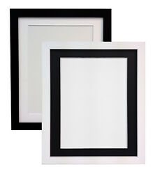 White Or Black Large Photo Picture Frames And Choice Of Mounts Mdf 25mm X 15mm H7