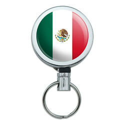 Retractable Reel Badge Key Holder With Belt Clip Country National State Flag L-n