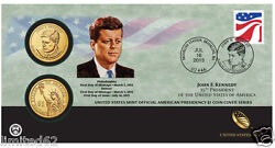 2015 John F. Kennedy 1 Coin Cover P55 + Jfk And Spouse Jp7 + 4 Jfk 1 Coins