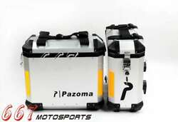 1Pair Aluminum Motorcycle 36 LTR Panniers Side Cases For BMW R1200GS GSA F800GS