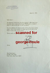 Johnny Green - Letter - Signed - 1975 - Hollywood Reporter - Oliver - Aa