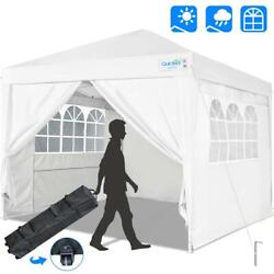 Quictent White 10and039x10and039 Commercial Ez Pop Up Canopy Folding Gazebo Party Tent Us