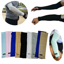 1 Pair Cooling Arm Sleeves Cover UV Sun Protection Outdoor Sports For Men Women $4.99