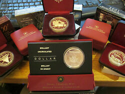Canada 1972 -2000 - 2007 Bu And Proof 1 Silver .999 /stirling /.500 Cased Coins