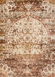 9and039x13and039 Loloi Rug Anastasia Polypropylene And Polyester Rust Ivory Machine-made Tra