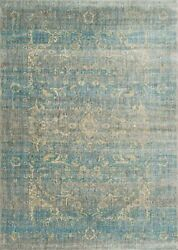 9and039x13and039 Loloi Rug Anastasia Polypropylene And Polyester Lt. Blue Mist Machine-made