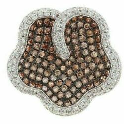 2.63ct Natural Round Cut Fancy Brown Diamond Cocktail Ring Size 7 14k Rose Gold