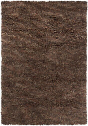 5x8and039 Chandra Rug Estilo Hand-woven Contemporary Shag Wool And Polyester Est18502