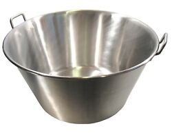 Extra Large Stainless Steel Caso Cazo Para Carnitas Gas Heavy Stove Xl Wok New