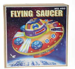 classic tin toy space flying saucer