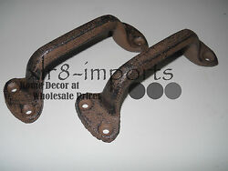 12 Cast Iron Antique Style Rustic Barn Handle Gate Pull Shed / Door Handles Hd