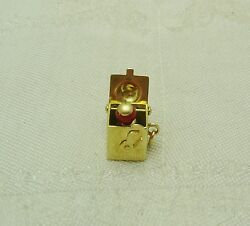 ADORABLE 14k Solid Yellow Gold JACK IN THE BOX Charm 141-W