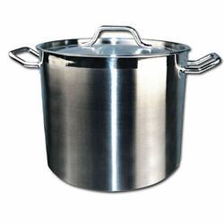 Winware By Winco Stainless Steel Stock Pot With Cover