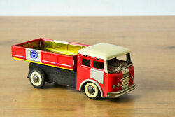 Antique Red China Tin Toy Mf936 Shanghai Truck Dongfeng Car Chinese Me Mf