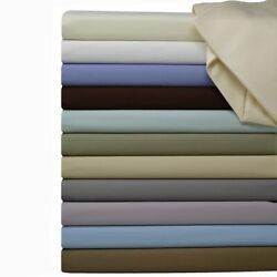 Luxury Ultra Soft 100 Pure Combed Cotton Sheet Set Deep Pocket Solid 600 Tc Set
