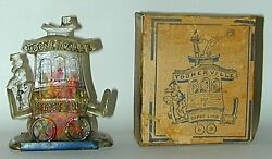 toonerville trolley glass candy container