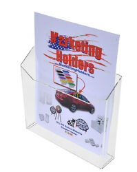 Brochure Magazine Holder Display Wall Mount For 8.5 X 11 Literature Lot Of 24