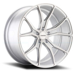 22x9 Varro Vd01 5x114.3mm +35 Matte Silver Brushed Face Wheels Set Of 4