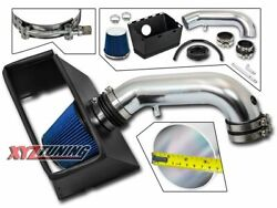 3.5 Blue Heat Shield Cold Air Intake+filter For 09 And 11 Dodge Ram 3500 5.7l V8