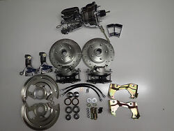 1964-1972 Gm A Body Power Front Disc Brake Conversion 8 Chrome Booster Chevelle