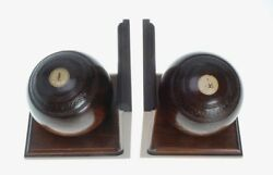 Jaques And Son London Lawn Bowling Ball Bookends