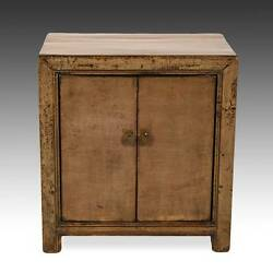 Fine Antique Chinese Shanxi Painted Lacquered Elm Wood Side Cabinet Early 20th C