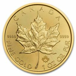 2021 1 Oz Canadian Gold Maple Leaf Coin .9999 Fine Gold - In Stock