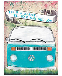 Vw Life Is A Journey Metal Wall Art Sign