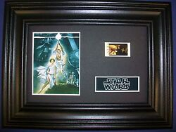Star Wars New Hope Movie Film Cell Memorabilia - Compliments Poster Dvd
