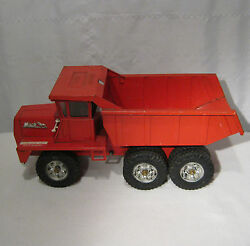 buddy l red dump truck 10 wheels 3 axles